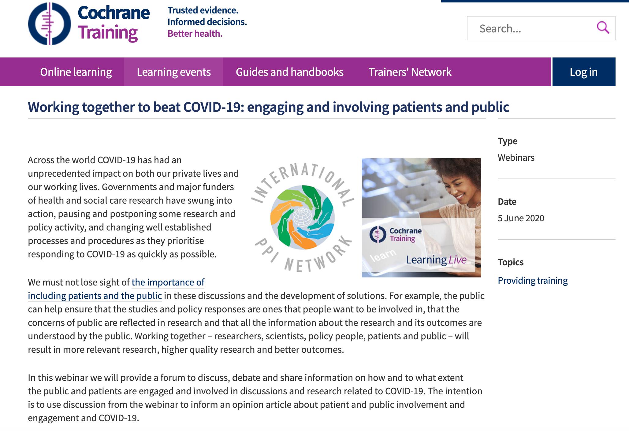 webinar PPI COVID